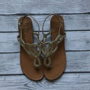 Gold Sparkle Sandal Wedding Shoe